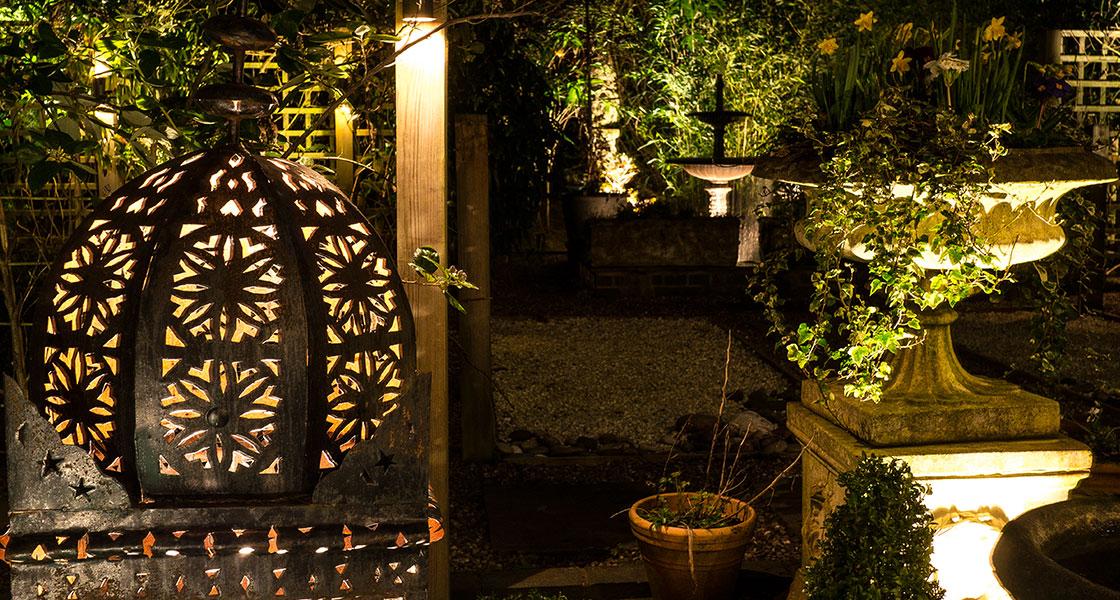 garden lighting design Bowdon