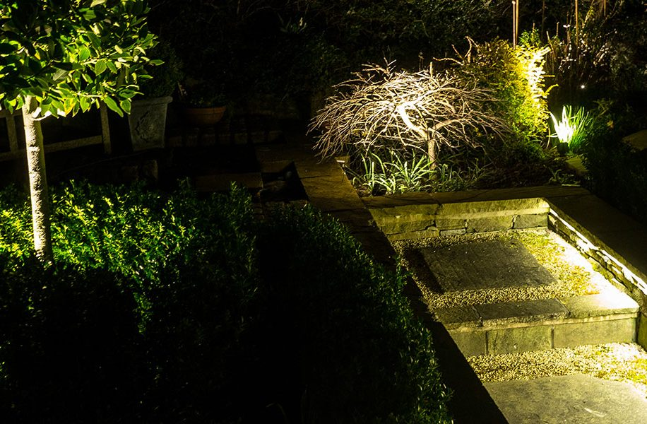 garden lighting design Bowdon